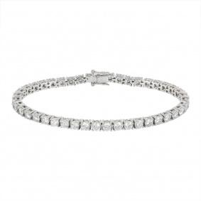 White Gold Diamond Line Bracelet 6.45ct